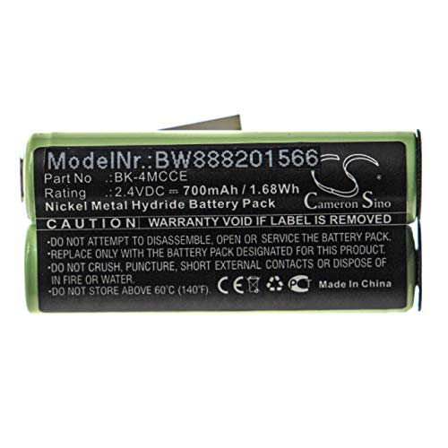 vhbw Batería compatible con Waterpik Sensonic Plus SR-3000, SR-3000E cepillo de dientes...
