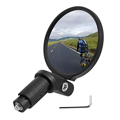 Bar End Bike Mirror Safe Rear View Mirror 360 Rotation Back View Mirror for MTB Road bikes E-bikes Trekking bikes Drop bar