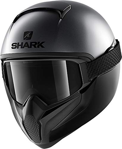 SHARK NC Casco per Moto, Mens, Anthracite, M