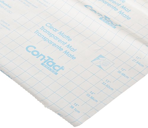 Con-Tact Brand Shelf Liner and Privacy Film, Clear Cover Self-Adhesive Semi-Transparent Liner, 18'' x 9', Clear Matte