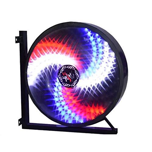 Luz De Poste De Barbero LED Giratorio Clásico De Estilo Retro Signo De Peluquero Las Tiras De Pared Impermeables Ahorran Energía (42 * 42 * 28cm,C)