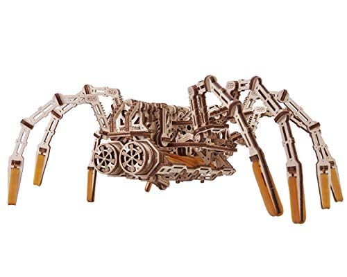 Wood Trick Mechanical Spider 3D Wooden Puzzle - Runs up to 7 feet - Wooden Model Kit for Adults and...