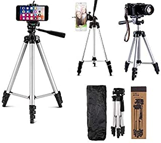 Techfire 3110 Tripod Stand for Phone and Camera Adjustable Aluminium Alloy Tripod Stand Holder for Mobile Phones & Camera,Photo/Video Shoot