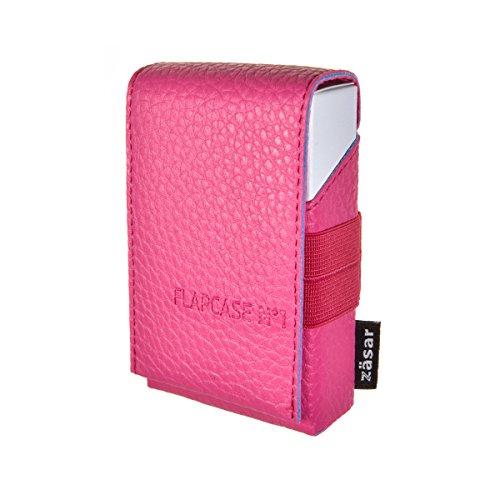 FLAPCASE N°1 • Living Pink • Designer Zigarettenetui Made in Austria, Leder vegan Zigarettenbox für 19, 20, 21 Zigaretten Packungen, regular King-Size