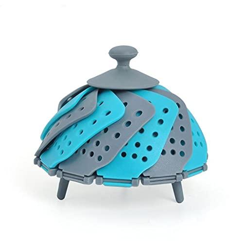 RongWang Utensilios de cocina de silicona para cocinar al vapor canasta de...