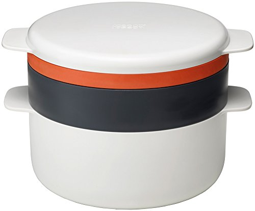 Joseph Joseph M-Cuisine - 4-teiliges Mikrowellenkocherset - steinfarbig/orange