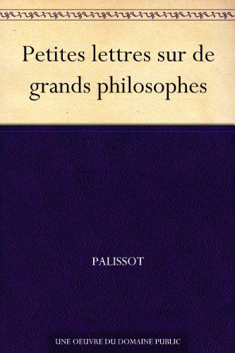 Couverture du livre Petites lettres sur de grands philosophes