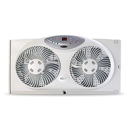 Bionaire BW2300-N Twin Reversible Airflow Window Fan with Remote Control (Renewed)