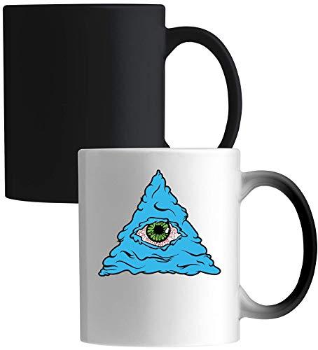 Money On My Mind Illuminati Piramid All Seeing Eye Ceramic Magic Mok