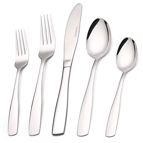 Silverware Set, 20-Piece Stainless Steel Flatware set, Tableware Cutlery Set Service for 4, Utensils for Kitchens, Dishwasher Safe
