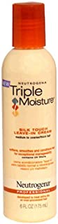 Neutrogena Triple Moisture Silk Touch Leave-In Cream Conditioner for Extra Dry Hair, Damaged & Over-Processed Hair, Hydrat...