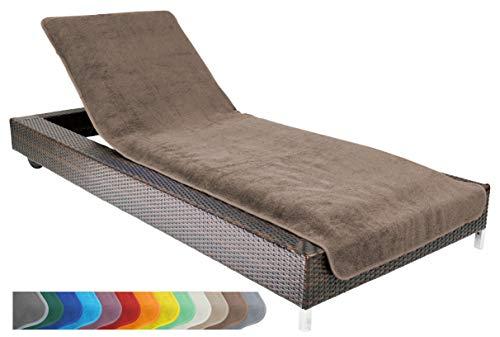 Brandsseller Housse de protection pour chaise longue de jardin, de plage, en éponge 100 % coton, environ 75 x 200 cm