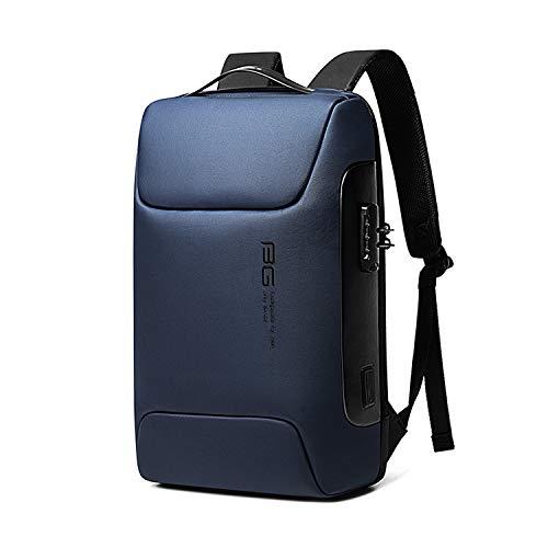 FANDARE Antifurto Zaino Zainetto Scuola con Porta USB Zaino per PC Portatile da Uomo Donna Borsa Universitaria Impermeabile Daypacks per Business Viaggio Lavoro Scuola Blu