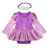 Tsyllyp Baby Girls Christmas Sofia Costumes Princess Halloween Birthday Romper Tutu Dress w/Headband