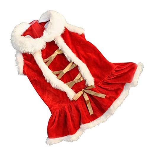 Amphia - Weihnachtsrock des klassischen Haustiers,Weihnachtshundekleidung Santa Doggy Costumes, die Haustier-Kleidungs Entwurf kleiden
