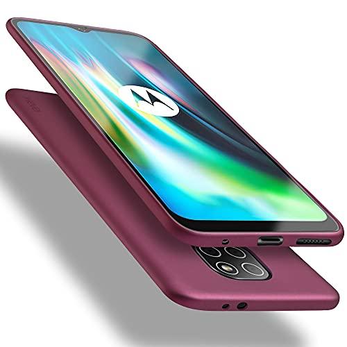 X-level Cover Moto G9 Play/Moto E7 Plus, [Guardian Series] Ultra Sottile e Morbido TPU Protettiva Custodia Silicone Rubber Protezione Cover per Moto G9 Play/Moto E7 Plus, Vino Rosso