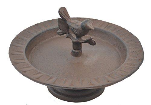 Import Wholesales Pedestal Bird Feeder Bath Decorative Cast Iron Chickadee Garden Decor 8' Wide