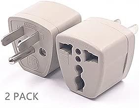 2 Packs High Performance Universal UK/EU/AU to US Adapter Travel Power Plug Adapter Converters 250V 10A Socket Converter (3Pin-US)