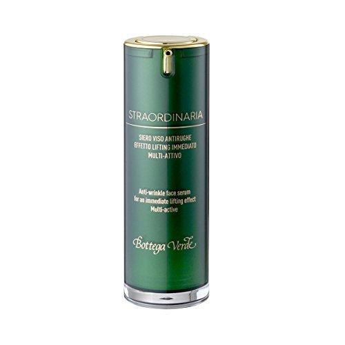 Bottega Verde - Straordinaria - Siero Viso Antirughe Effetto Lifting Immediato - Formula Multi-Attiva Rimpolpante e Idratante - 25 ml