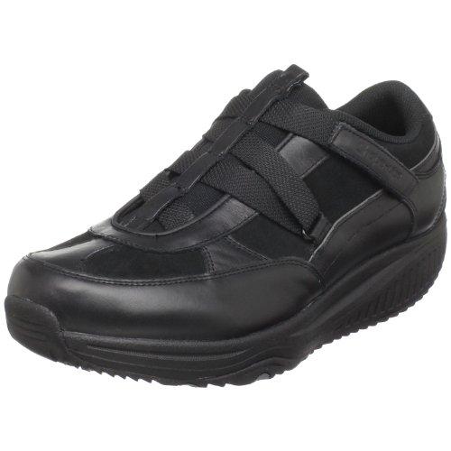 Skechers Shape-ups XW Hydro Shape Ups XF Z Strap - Zapatillas de Fitness de Cuero para Mujer, Color Negro, Talla 37