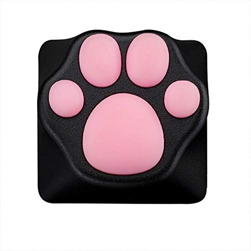 Custom Gaming Keycaps Machinery Keyboard keycaps Cat paw Shape ABS Base for ESC Key, Cat Claw for Cute Keyboard (Black/Pink)