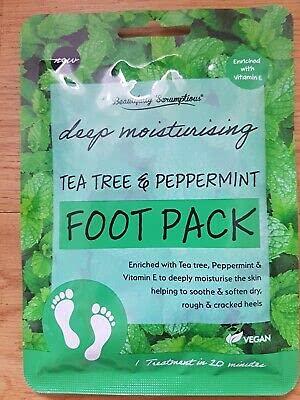 Paquete de pies de árbol de té y menta hidratante profundo vegano 1 tratamiento en 20 minutos