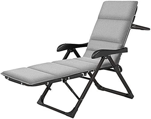 JAKWBR Sillón plegable transpirable con 7 engranajes, reclinable ajustable con almohada, tumbona de patio, cama de acompañamiento simple, B (color: B)