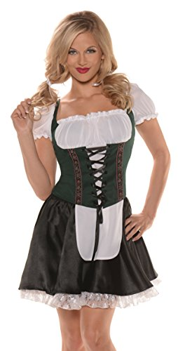 Beer Maiden Top Adult Costume Green - X-Large