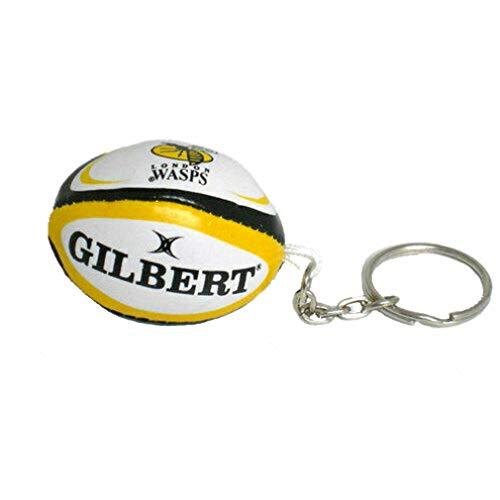GILBERT London Wasps Englische Erste Liga Mannschaft Rugby Schlüsselanhänger Ball Packung Mit 25
