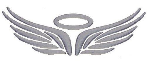 『MIAOKASI 立体 3D 小悪魔 & 天使の翼 エンブレム ステッカー シルバー 銀 デビル エンジェルウィング シールセット』の4枚目の画像
