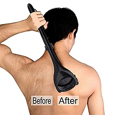 ANUFER Foldable Back Shaver for Men Painless Body Hair Removal with 2 Disposable Razor Blades from ANUFER