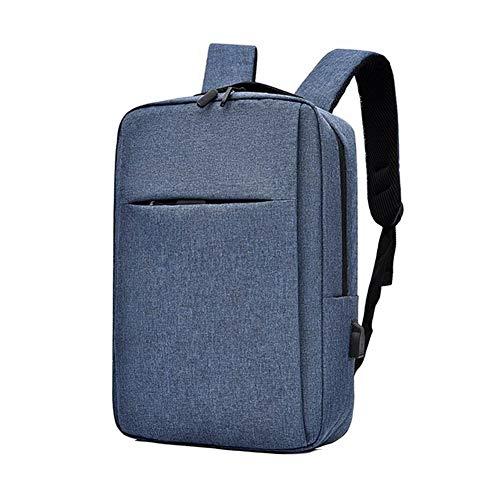 ZHTX Adisputent USB Charging Anti-theft Laptop Backpacks 15 Inch Large Capacity Travel Bagpack Men Waterproof Backpack Student Bags (Color : Blue)