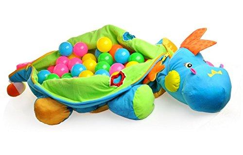Nieuw! Balls dinosaur - bal dinosaurus - knuffelig dinosaurus kussen + 60 ballen + veel extra's
