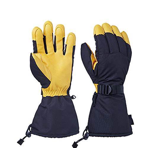 Handschoenen rundleer ski winddicht waterdicht sport motorfiets rijden sneeuw
