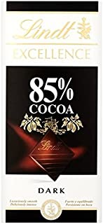 Lindt Excellence 85% Cocoa Extra Fine Dark Chocolate 100G by Lindt