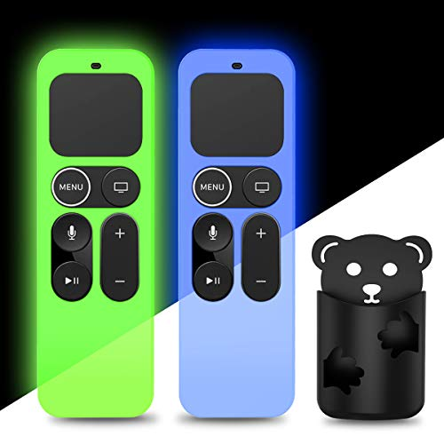 2Pack Silicone Case Cover Compatible for Apple TV 4K 5th, 4th Gen...