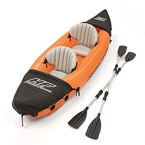 ZHBD Conjunto De Kayak Inflable De 2 Personas, para Adultos Y Accesorios para Botes De Pesca Portátiles para Niños 1 Par De Remos De Cojín Bomba De Mano De Alto Rendimiento
