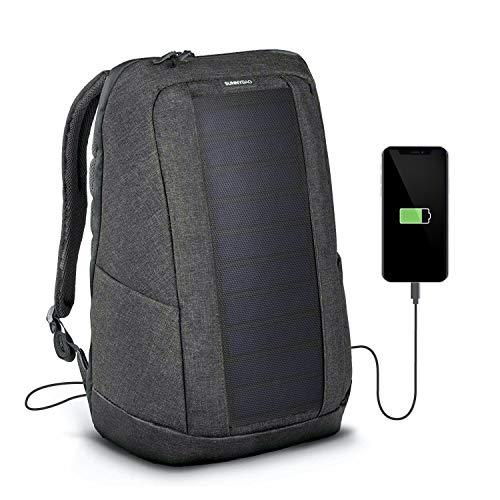 Sunnybag Iconic Sac à Dos Solaire pour Ordinateurs Portables, Panneau Solaire de 7 Watts, Chargeur pour Smartphones (iPhone etc.), tablettes, smartwatch (Graphite)