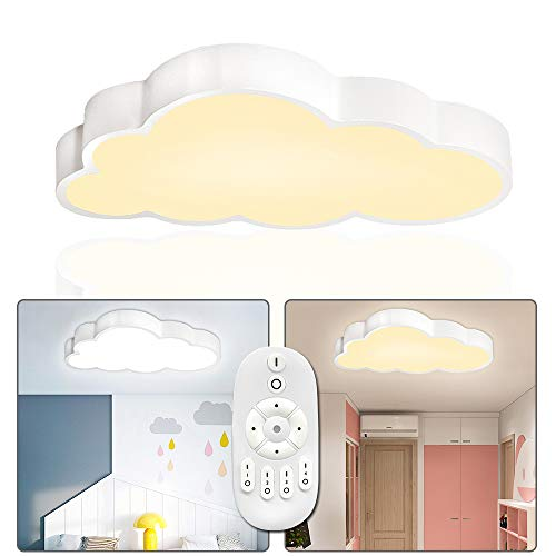 UISERBT 48W LED Deckenleuchte Wolken Deckenlampe Dimmbar mit Fernbedienung Lampe Kinderzimmer Wolke Kinderzimmerlampe Moderne für Kindergarten Schlafzimmer
