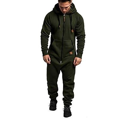 MOHOLL Men's Athletic Casual Tracksuit Pants Hooded Full Zip Jacket Sweatsuit Set for Men Hoodie Pants Tracksuit Activewear
