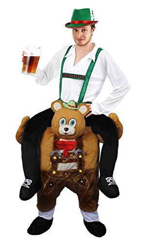 ILOVEFANCYDRESS Disfraz A Hombros DE Oso BAVARIO para Adultos con Disfraz DE Hombre BAVARIO con Sombrero Verde (S)