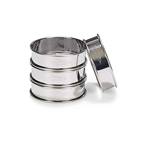 patisse 2141 - Set 4 Aros Tarta INOX 18/8, 0,30mm, 8 x 2½cm