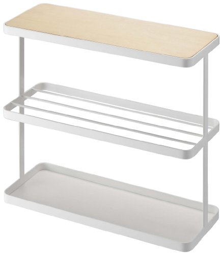YAMAZAKI Tower Side Small End Stand Coffee Table, White