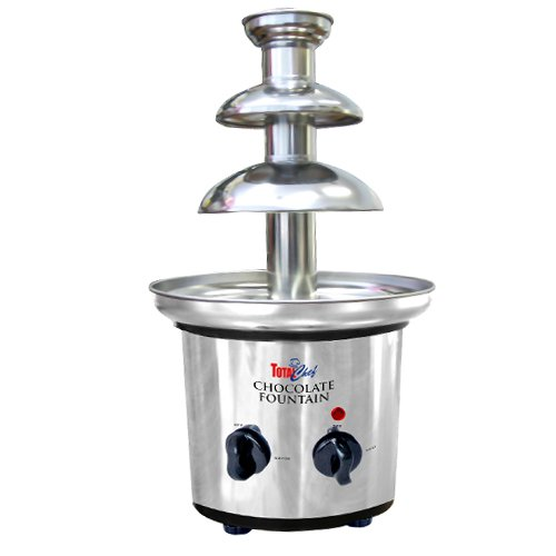 Total Chef TCCSF-02 Stainless-Steel 2-Tier Chocolate Fountain