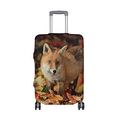 AJINGA kleine vos bos voedsel herfst reizen bagage beschermer koffer cover M 22-24 in