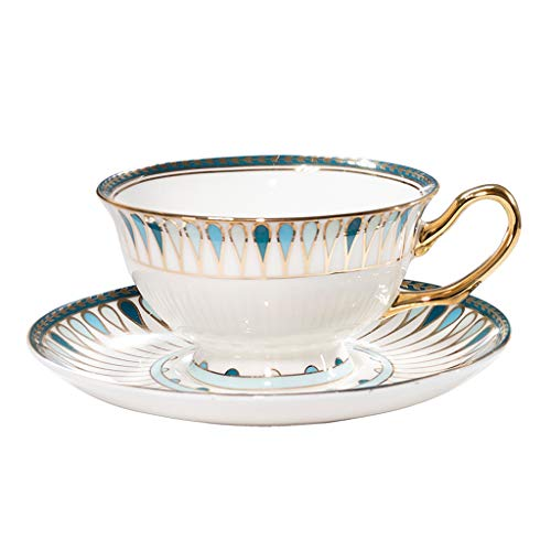 zxb-shop Ceramic Cup European Palace Style Coffee Cup and Saucer Exquisite Luxury Afternoon Tea Coffee Cup Handmade Gold Bone China Coffee Cup and Saucer Set Tea Cup