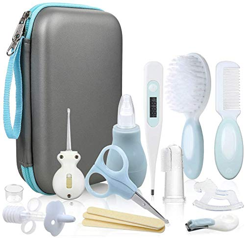 Lictin Baby Health Care Kit - Baby Grooming Kit Newborn Baby Care Accessories, 15PCS Safety Cutter Nail Care Set