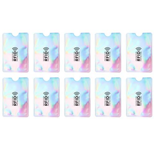 10 PC-Kreditkarte-Schutz-sichere Hülse RFID, die Identifikation-Halter-Folien-Schild MR blockiert, schützen sich gegen Identifikations-Diebstahl 5 Arten