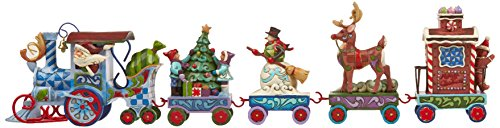"Jim Shore Heartwood Creek Holiday Express Train 5-Piece Mini Set Stone Resin Figurine, 3.5"""