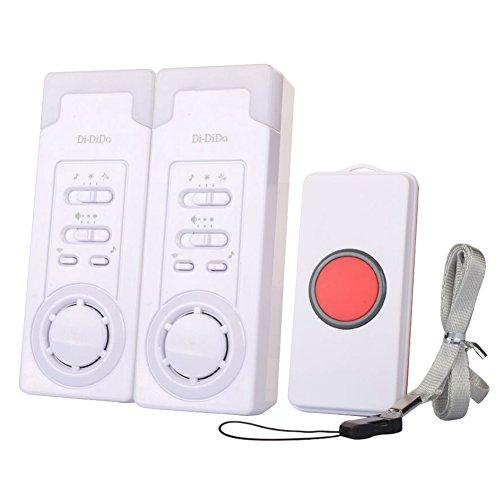 Kabelloses Pflegeruf-Set, Smart-Pager-System, Notfall-Pflege-Alarm mit zwei Ruftasten für ältere, pflegebedürftige Patienten (2-in-1)